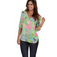 Promo- Mint Vacay Away Blouse