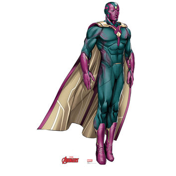 Vision Animated Avengers Cardboard Standup