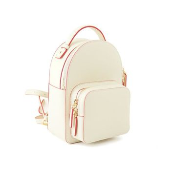 Lydian White Small Backpacks 2017 New Zipper Bag Girls School Shoulder Bags Fashion Leisure Quilted Backpack Hot Design Rucksack