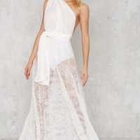 Voltage Multi Wear Maxi Dress - White Lace