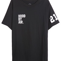 Black Short Sleeve Letters 21 Print T-Shirt - Sheinside.com