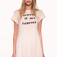 SCHOOL'S OUT GRUNGE GIRL DRESS at Wildfox Couture in  VINTAGE GREY, DIONNE