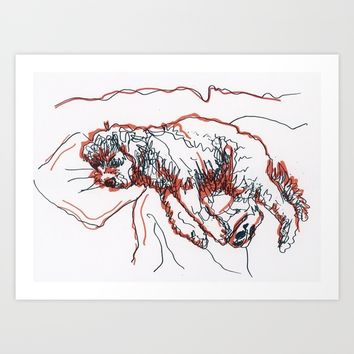 Sleepy Max Art Print by Alayna H.