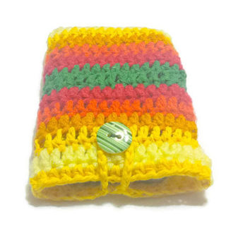 Women Phone Case, Crochet Cell Sleeve, Mobile Slip Cover, Colorful Phone Sock LG Carrying Case Protective bag Nexus Cover Stripe Iphone Bag