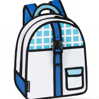 Blue Checked Backpack