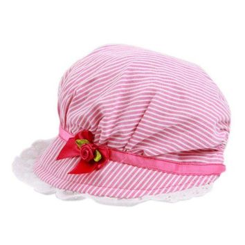 PEAP78W New 0-12Months Boy Baby Toddler Cotton Bucket Hat Summer Sun Beach Bonnet Beanie Cap X16