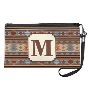 Southwest Design Gray Brown Wristlet Clutches