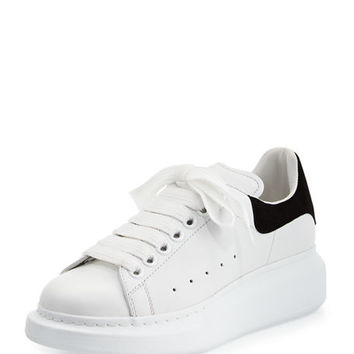 Alexander McQueen Leather Lace-Up Platform Sneaker