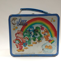 Vintage Care Bears Lunch Box 80s Metal