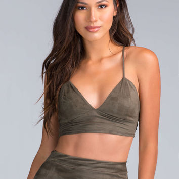 Forever Fave Faux Suede Crop Tank GoJane.com