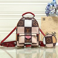 Louis Vuitton LV Women Fashion Leather Daypack Backpack