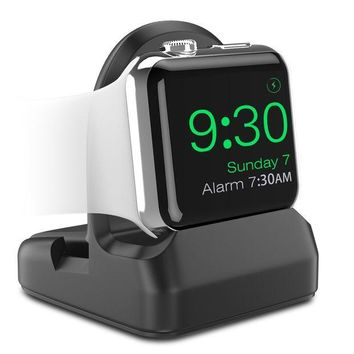 DCK4S2 MoKo Apple Watch Stand, TPU Charging Station Dock, Compatible with Nightstand Mode, Fit Apple Watch Series 3 2017 / Series 2 2016 [38mm & 42mm] - Black
