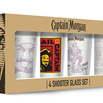 Captain Morgan Shot Glasses Set of 4, Clear