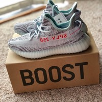 NEW DS Adidas Yeezy Boost 350 V2 Blue Tint 100% AUTHENTIC from Yeezy Supply