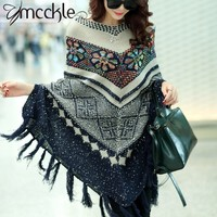 Pull Pullover Cardigan Capes And Ponchos Winter Cape With Tassel Women's Sweater Fashion Vintage Bohemian Zy631