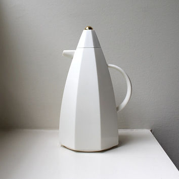 Modernist Thermos Pitcher Insulated Thermal Carafe Architectural 70's