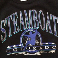 Vintage Steamboat Coloraod ski sweatshirt