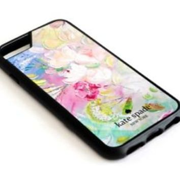 Best Floral Painting Kate Spade Art For iPhone 7 7+ 8 8+ Cover Protect Case