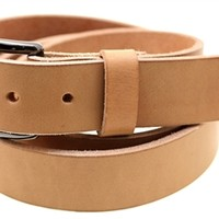 Tan Harness Leather belt Made in America dress, work or casual