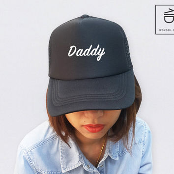 Daddy Baby Unisex Baseball Head Hat Cotton Foam Mesh Trucker Cap Embroidered Cap