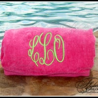 Personalized Beach Towel ~ Monogrammed Beach Towel ~ Multiple Color Options ~ Personalized Pool Towel ~ FREE Personalization ~ quick ship