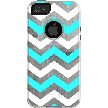 Tiffany and Driftwood Chevron - Otterbox Commuter iPhone Case. iPhone 5 case, iPhone 6 case, iPhone 6 plus case.
