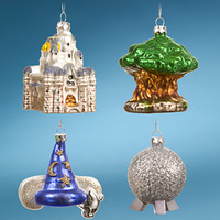 ''Four Parks, One World'' Walt Disney World Resort Icon Ornament Set - 4-Pc.