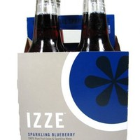 Izze Sparkling Blueberry Soda 4 pack (4 12 ounce) Bottles