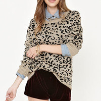 Kirra Leopard Pullover Sweater at PacSun.com