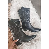 Festival Queen Black Western Boots