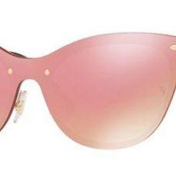 Gotopfashion RAY BAN 3580N 3580/N 43 043/E4 BLAZE CATS GOLD SUNGLASSES PINK PINK GOLD SOLE