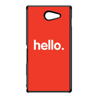 Hello Black Hard Plastic Case for Sony M2 by textGuy