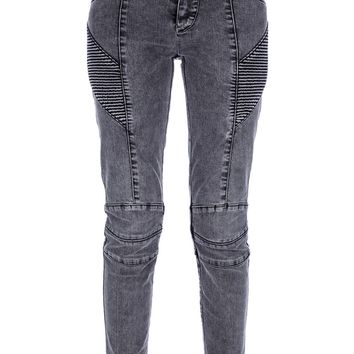 Pierre Balmain Ribbed Panel Skinny Jean
