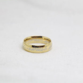 Free Engraving,gold Ring, Frosted Ring,promise ring,couple Rings, Lovers rings