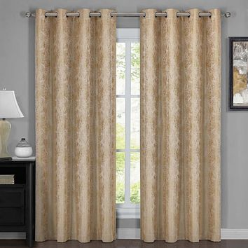100% Blackout Curtain Bali - Wallpaper Abstrak Theme (Set of 2)
