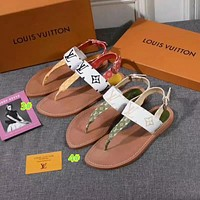 Louis Vuitton LV  Flower-pattern flat-soled sandals