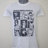 Lou Reed t-shirt 70s comic strip stooges mc5 lou sonic youth cramps