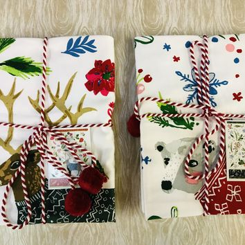 Holiday Towel tied with a Bow|2 styles