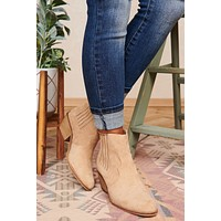Love Or Hate Me Faux Suede Booties (Oat)