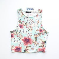 PIPER FLORAL PRINTED CROP