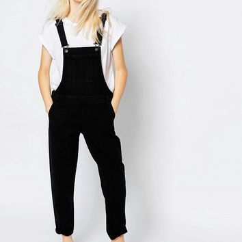 Monki Denim Overall Jumpsuit