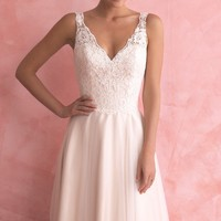 Lace Open Back Gown by Allure Bridals Romance