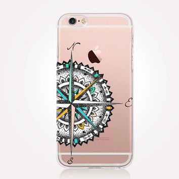 Transparent Compass Phone Case - Transparent Case - Clear Case - Transparent iPhone 6 - Transparent iPhone 5 - Transparent iPhone 4