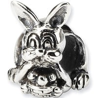 Reflection Beads Silver Bunny and Basket Celebrate Bead