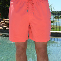Southern Tide Solid Swim Short- Sunset