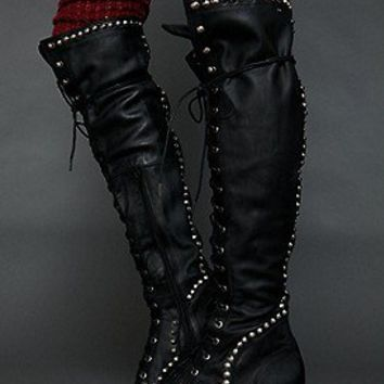 Jeffrey Campbell  Studded Joe Tall Boot at Free People Clothing Boutique