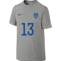 Nike Youth Girls USA Soccer Alex Morgan #13 Player Grey T-Shirt | DICK'S Sporting Goods