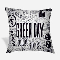 Green Day A Collective Collage Pillow Case