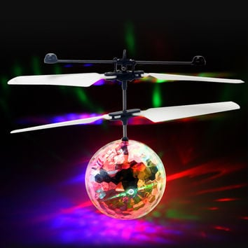 Fly Flash Ball Toys Hand Remote Control RC Helicopter Flying Quadcopter Drone Kids Toy Fairy Doll Best Gifts