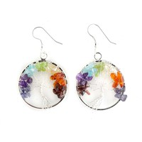 Chakra Tree of Life Earrings